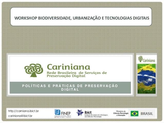 P O L Í T I C A S E P R Á T I C A S D E P R E S E R VA Ç Ã O D I G I TA L Cariniana Rede Brasileira de Serviços de Preserv...