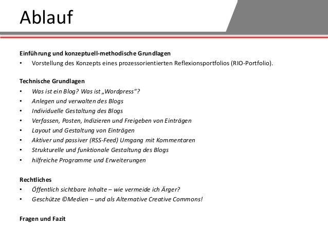 Workshop - Blogs als Portfoliowerkzeug (Tutorenschulung WS2013) Slide 2
