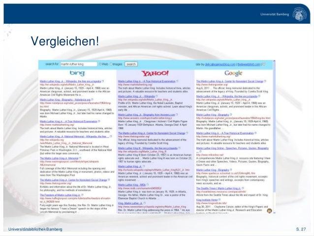 S. 27Universitätsbibliothek Bamberg Vergleichen!
