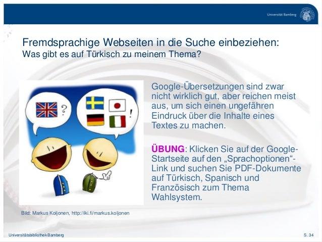S. 34Universitätsbibliothek Bamberg Fremdsprachige Webseiten in die Suche einbeziehen: Was gibt es auf Türkisch zu meinem ...
