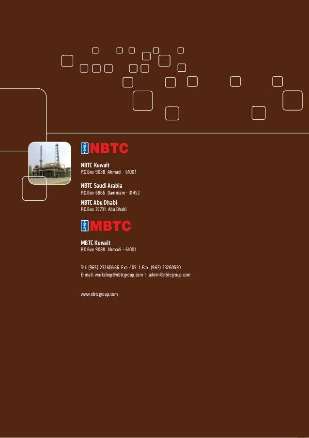 NBTC WORKSHOP DIVISION Brochure
