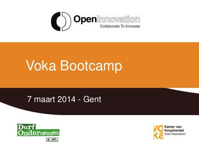 Voka Bootcamp 7 maart 2014 - Gent