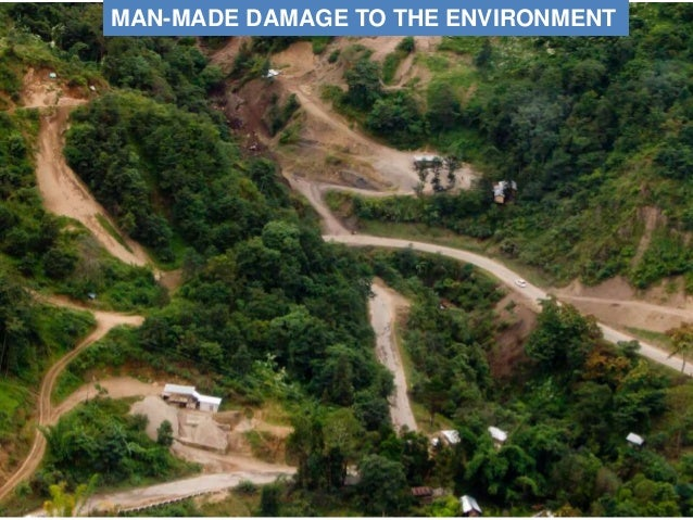 MAN-MADE DAMAGE TO THE ENVIRONMENT