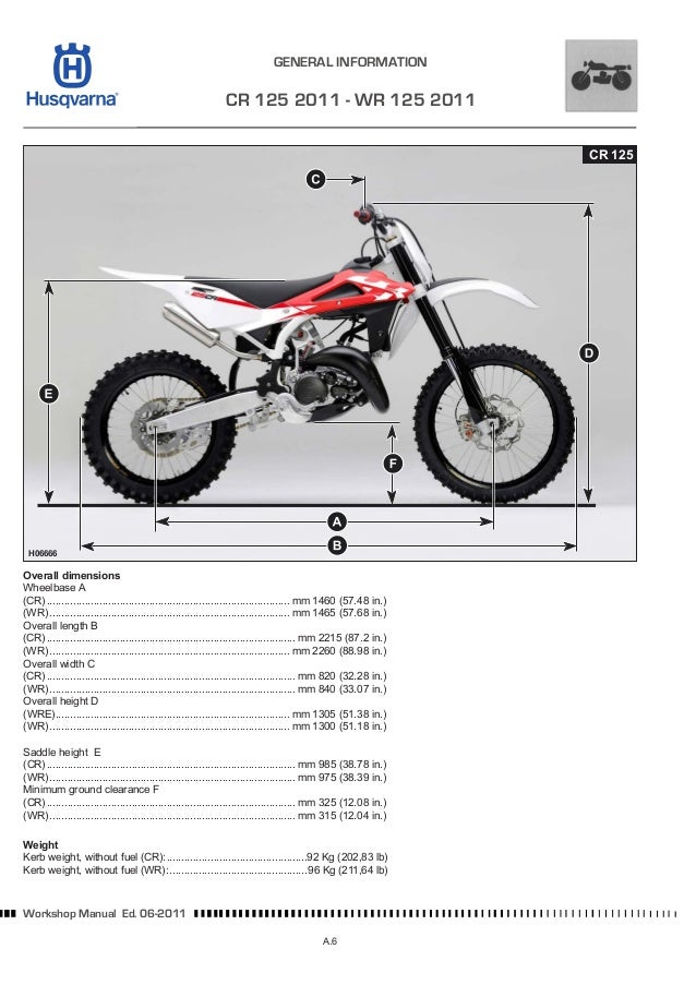husqvarna motorcycle cr 125 wr 125 full service repair manual 2006