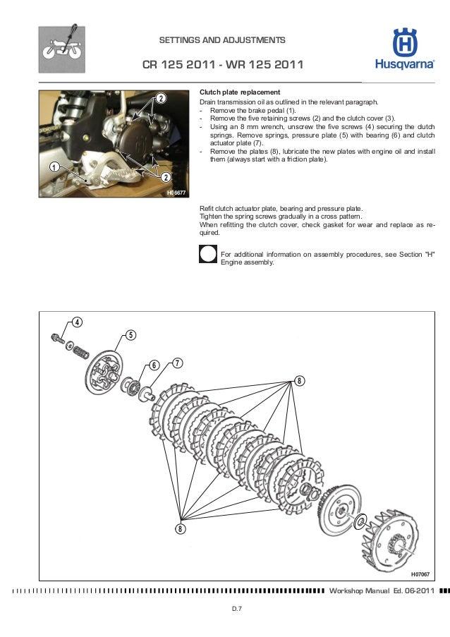 husqvarna wr 125 cr 125 digital workshop repair manual 2000 2002