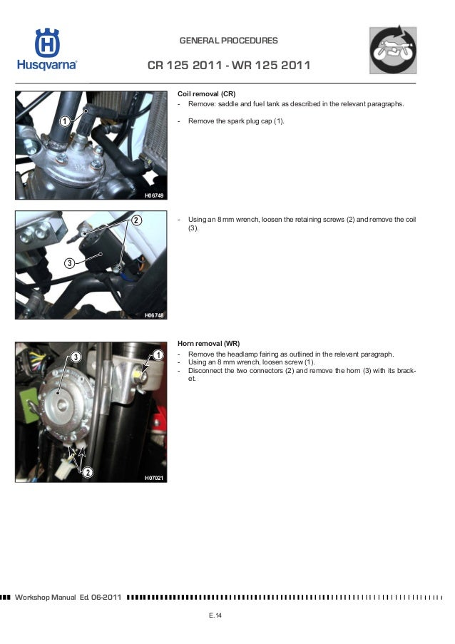 Husqvarna Workshop cr wr-xc 125-144-150 2012