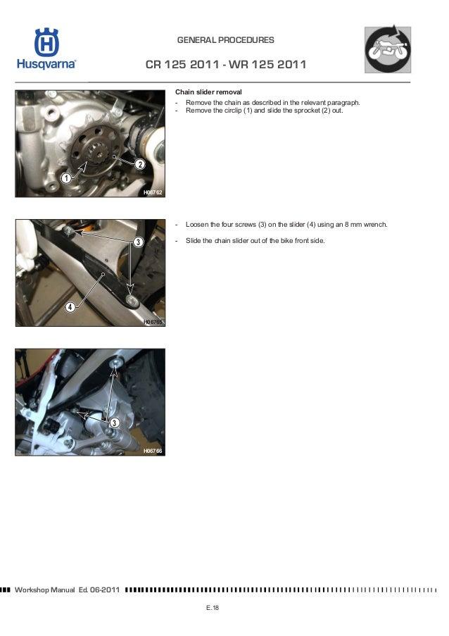 husqvarna workshop cr wr xc 125 144 150 2012 rh slideshare net Husqvarna WR 125 CR 125 Top Speed
