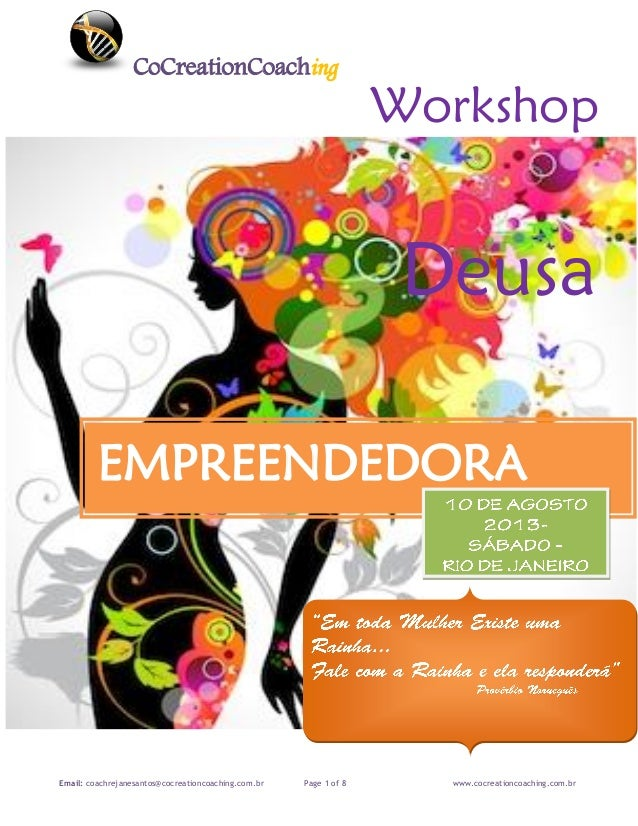 CoCreationCoaching Email: coachrejanesantos@cocreationcoaching.com.br Page 1 of 8 www.cocreationcoaching.com.br Workshop D...