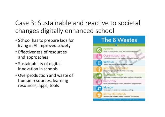 Case3:Sustainableandreactivetosocietal changesdigitallyenhancedschool • Schoolhastopreparekidsfor livingi...