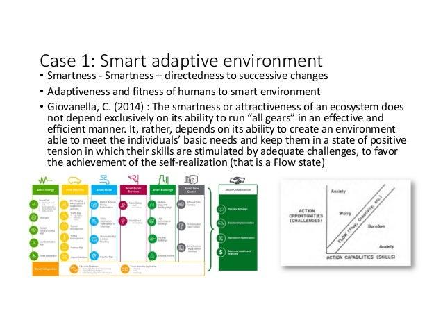 Case1:Smartadaptiveenvironment • Smartness- Smartness– directednesstosuccessivechanges • Adaptivenessandfitness...