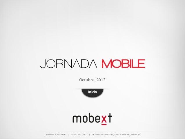 JORNADA MOBILE                                           Octubre, 2012                                                    ...