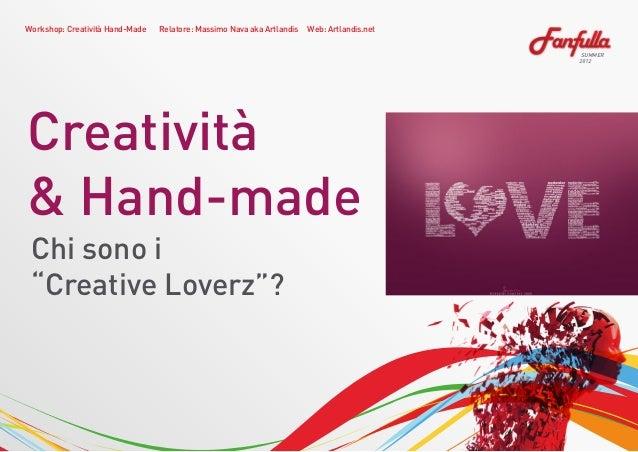"Workshop fanfulla ""Creative Loverz"" Slide 3"