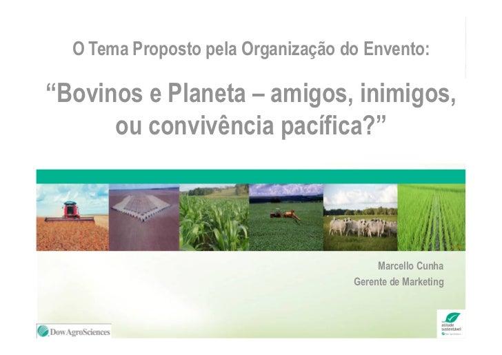 """O Tema Proposto pela Organização do Envento:""""Bovinos e Planeta – amigos, inimigos,      ou convivência pacífica?""""         ..."""