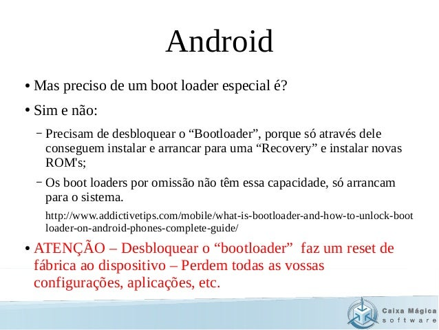 Workshop on Android Rom Creation - FISTA/ISCTE 2014