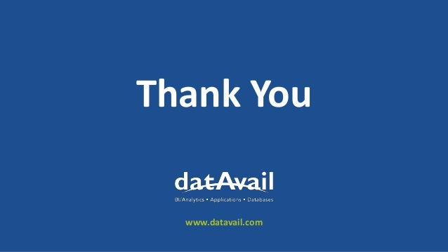 Thank You www.datavail.com