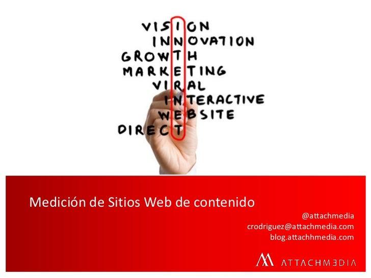 Medición de Sitios Web de contenido                                                @attachmedia                           ...