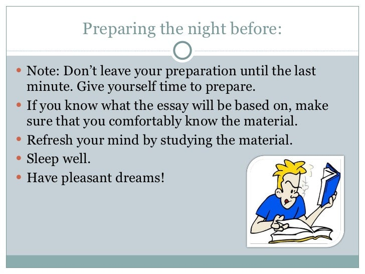 essay on the night before an examination Night Before Exam
