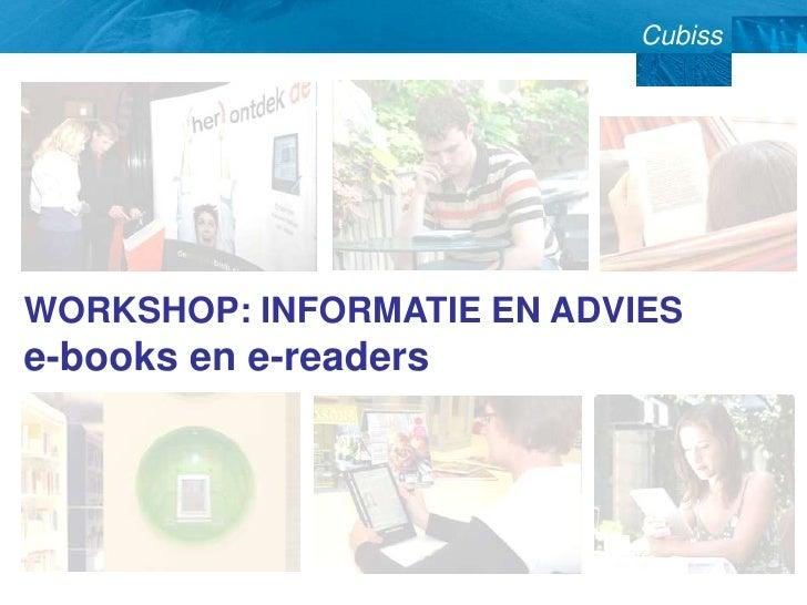 WORKSHOP: INFORMATIE EN ADVIES e-books en e-readers