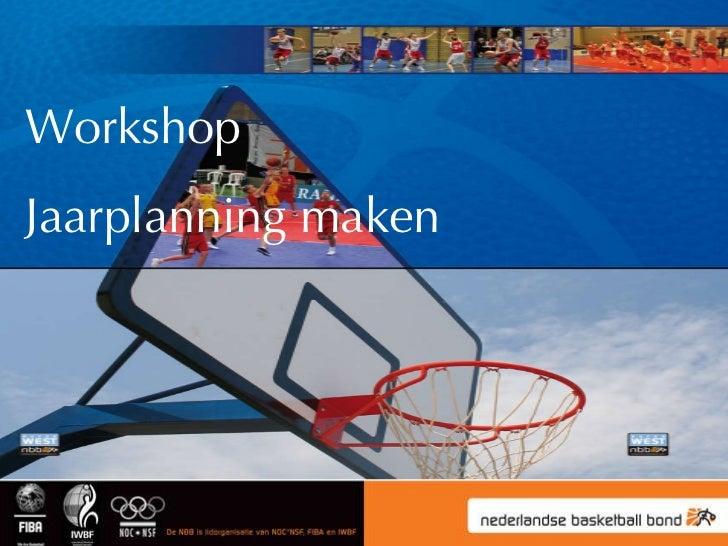 Workshop Jaarplanning maken