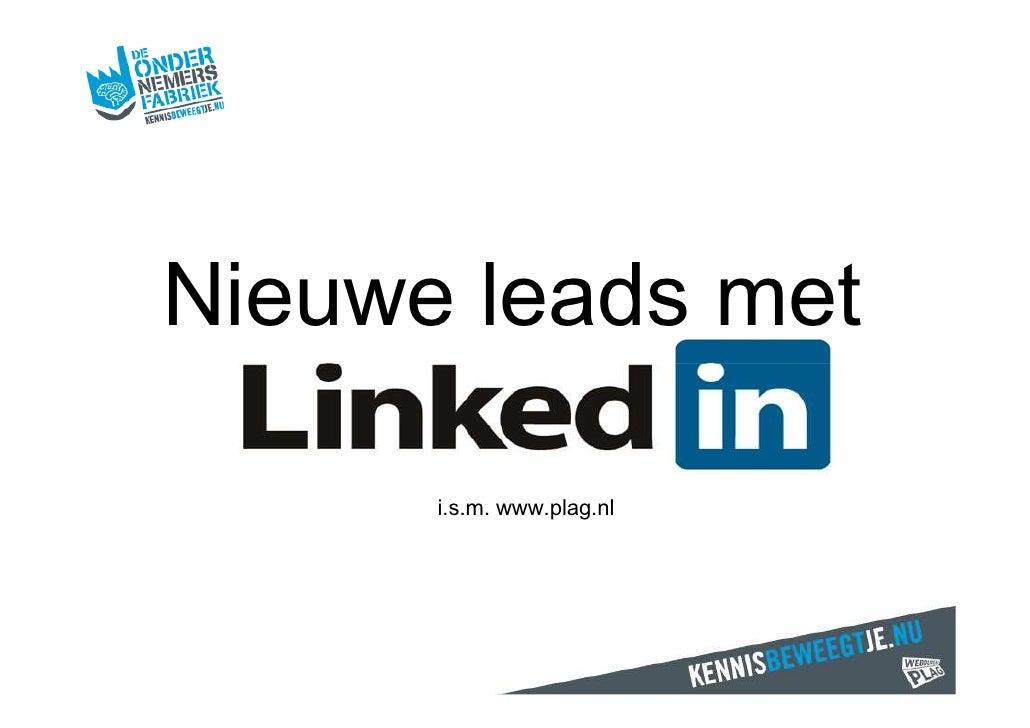 Nieuwe leads met<br />i.s.m. www.plag.nl<br />