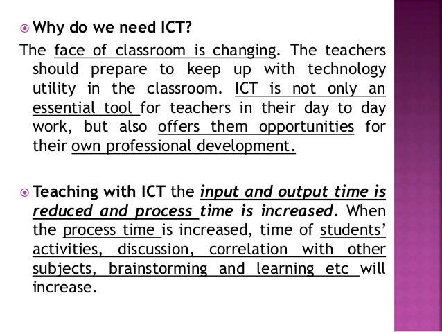 ict use in b ed  teacher education course