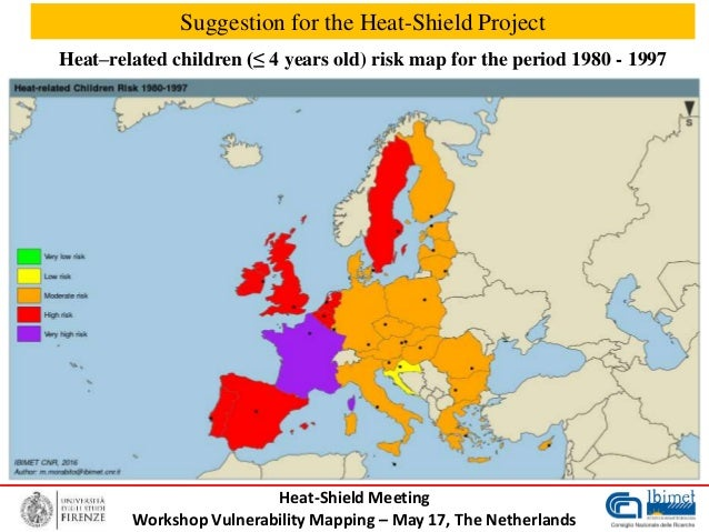 Heat Wave Risk Mapping In Europe For Elderly People