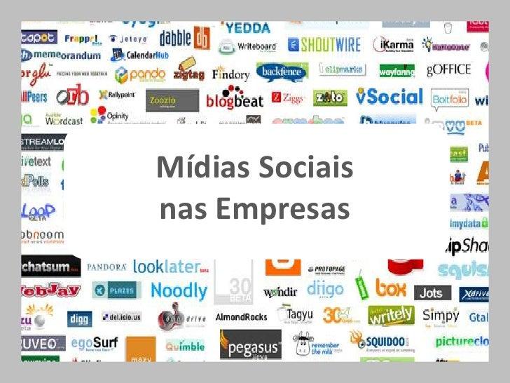 Mídias Sociais <br />nas Empresas<br />