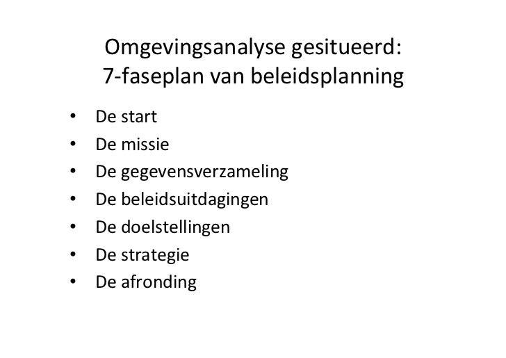 Workshop 'Omgevingsanalyse' Slide 3