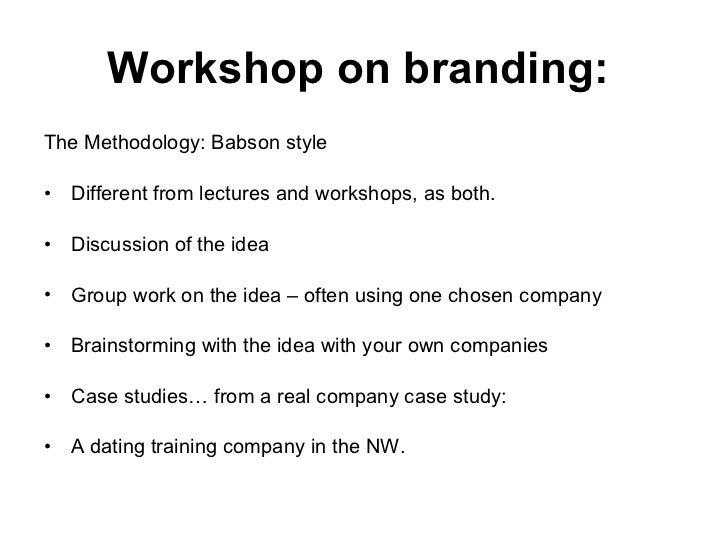 Workshop On Branding Slide 2