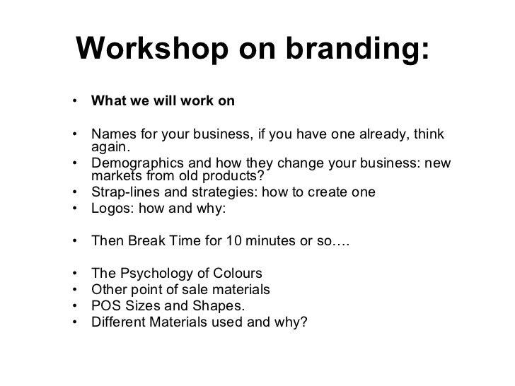 Workshop On Branding Slide 3