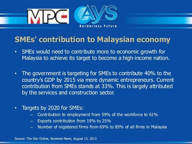 smes in the malaysian economy Malaysia to share knowledge and enhance the mutual cooperation towards sme  sector as the major player in the socio-economic development programs.