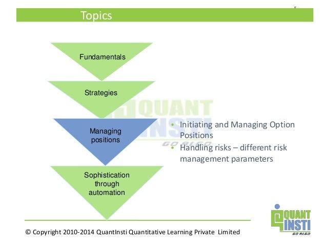 Quantitative options strategies