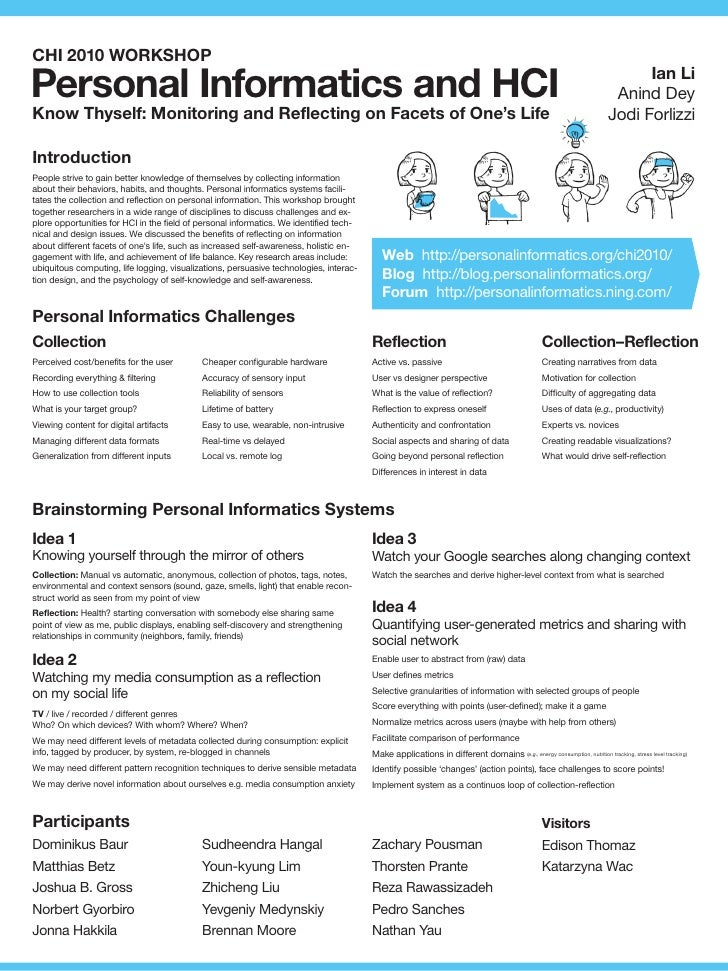 CHI 2010 WORKSHOP  Personal Informatics and HCI                                                                           ...