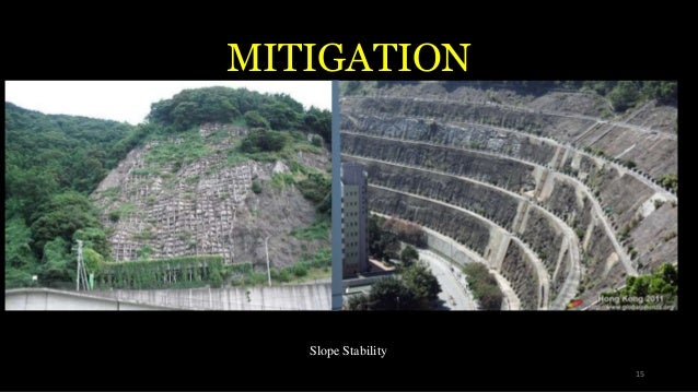 MITIGATION Slope Stability 15