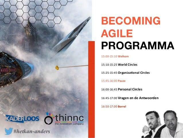 Workshop Becoming agile. Make choices Slide 3