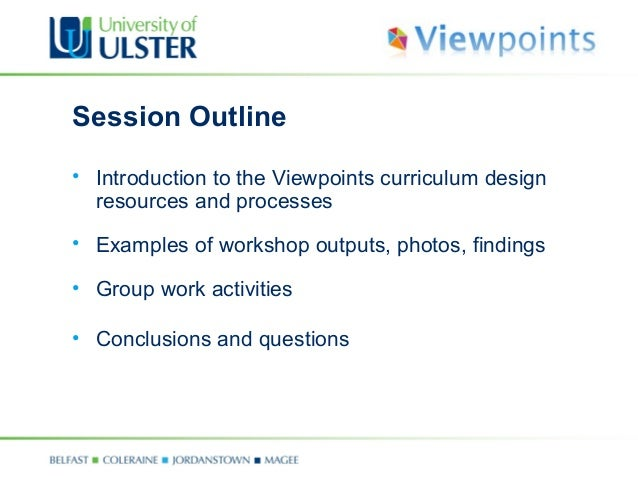 Curriculum Outline Template Workshop Presentation