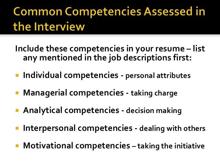 personal competency essay Personal competencies what does personal competencies mean when i decide to choose my profession i need to prepare myself to engage in ongoing training.