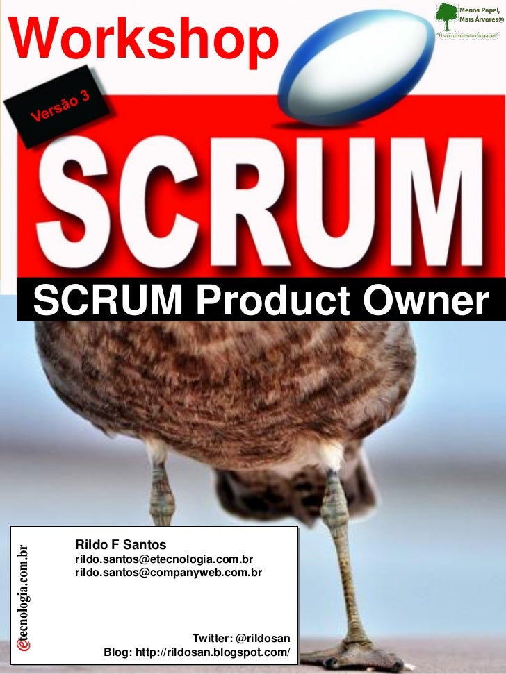 Workshop Workshop SCRUM Product Owner                                    SCRUM Product Owner                              ...