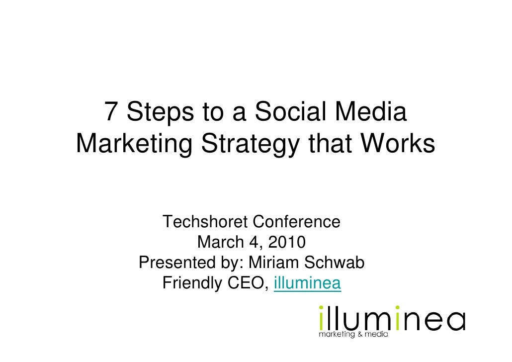 7 Steps to a Social Media Marketing Strategy that Works          Techshoret Conference              March 4, 2010      Pre...