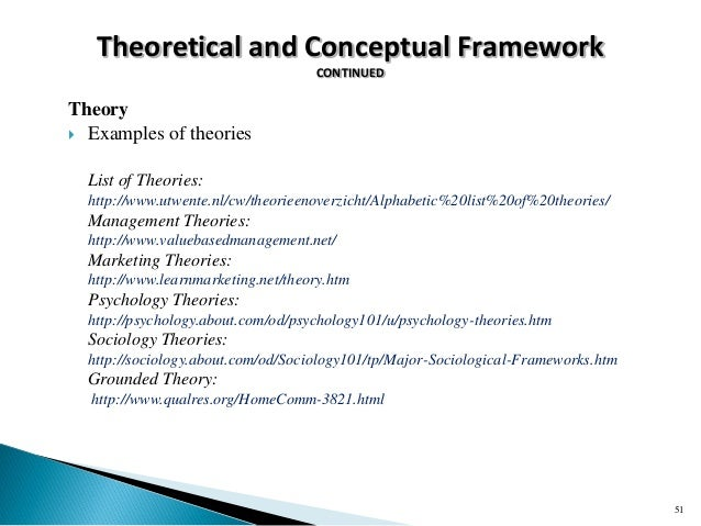 The theoretical framework of a dissertation: what and how?
