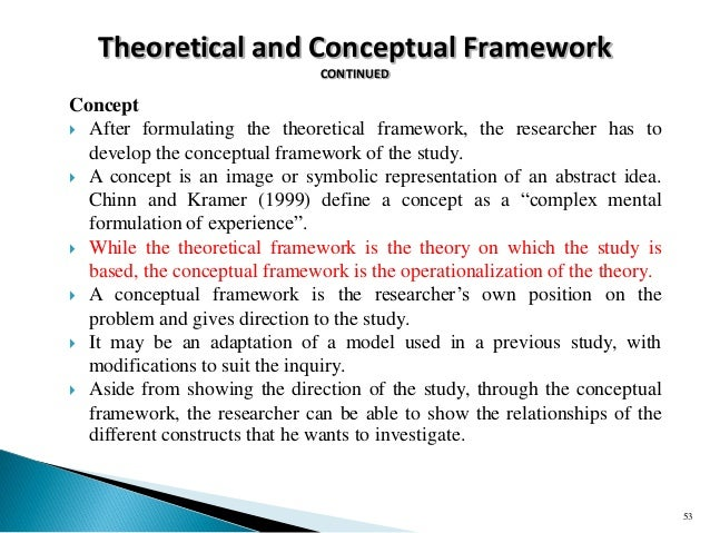 Conceptual framework research papers