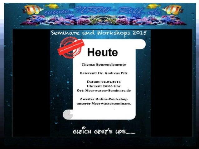 online Seminar Spurenelemente 2 Vorwort