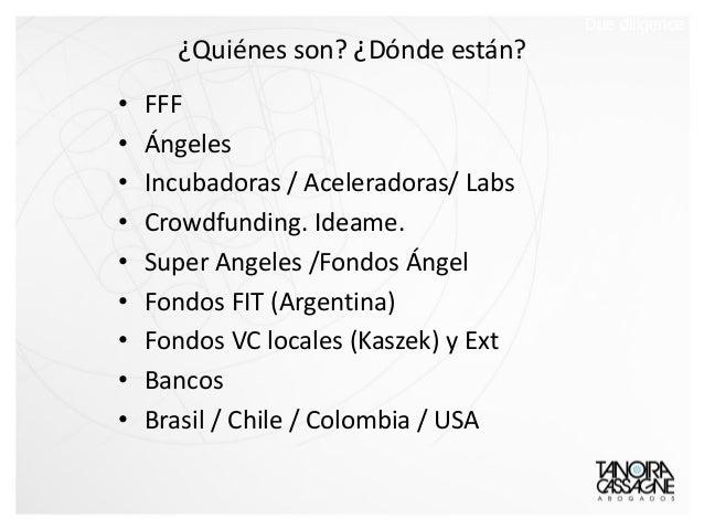 ¿Quiénes son? ¿Dónde están? • FFF • Ángeles • Incubadoras / Aceleradoras/ Labs • Crowdfunding. Ideame. • Super Angeles /Fo...