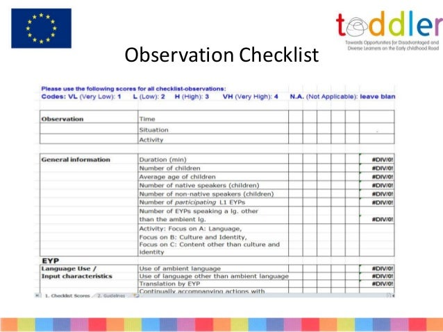 Sample Observation Paper for Child Development