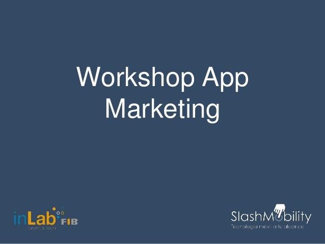 Workshop App Marketing