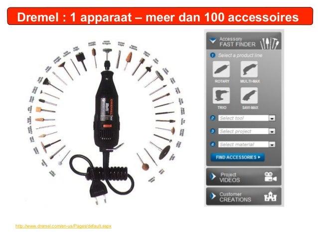 Dremel : 1 apparaat – meer dan 100 accessoireshttp://www.dremel.com/en-us/Pages/default.aspx