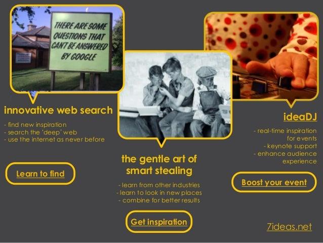 innovative web search                                                                                   ideaDJ- find new i...