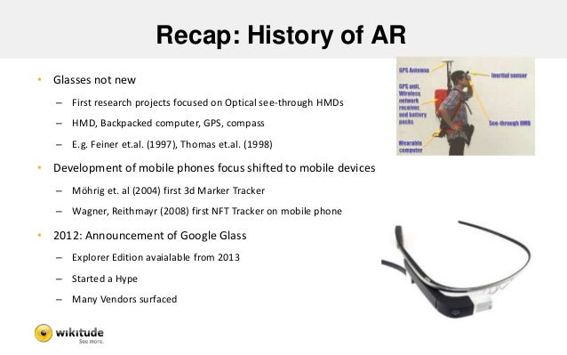 The other third screen?  Desktop Mobile Augmented Reality  Information  Density  Context  Relevance  +  =