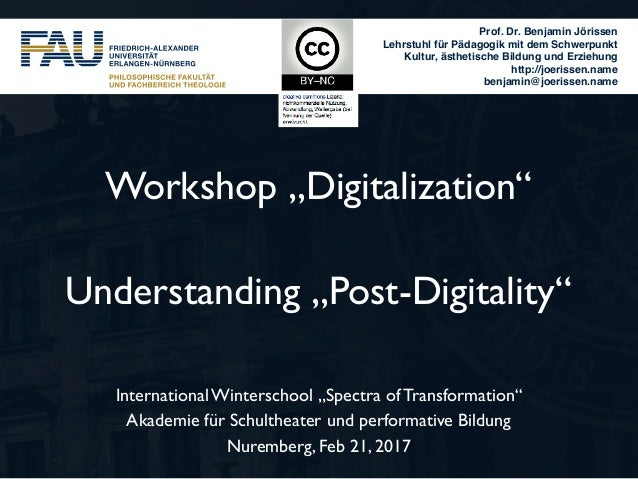 "Workshop ""Digitalization"" 