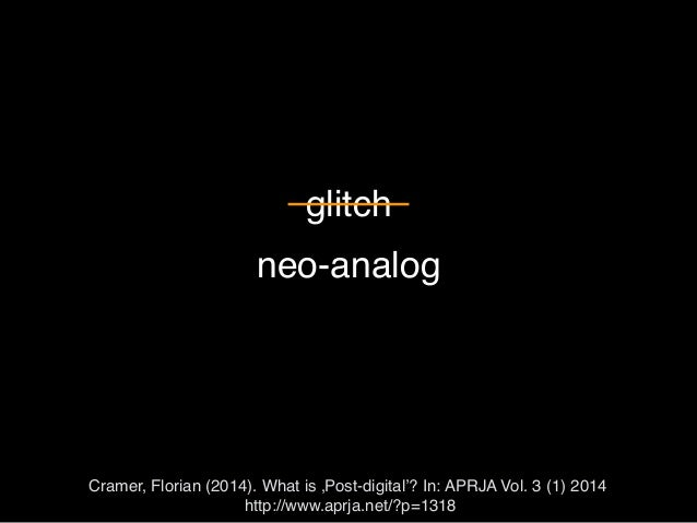 Workshop Part 2: Postdigitality (arts & aesthetic education) Slide 2